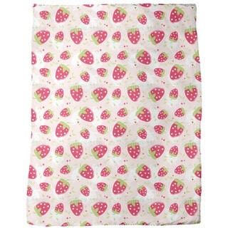 Strawberry Lover Fleece Blanket