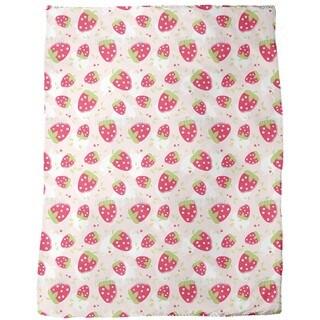 Strawberry Lover Fleece Blanket
