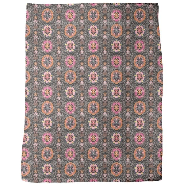 Floralie at Night Fleece Blanket