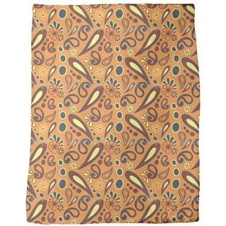 Beebob Paisley Orange Fleece Blanket