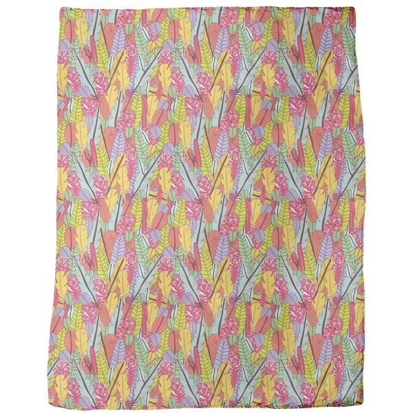 The Feathers of the Paradise Birds Fleece Blanket