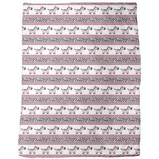 Sweet Zebra Stripes Fleece Blanket