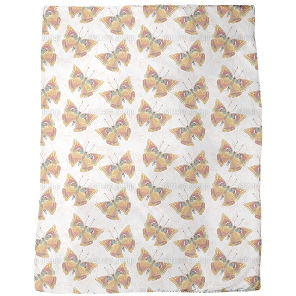 Delicate Butterflies Fleece Blanket