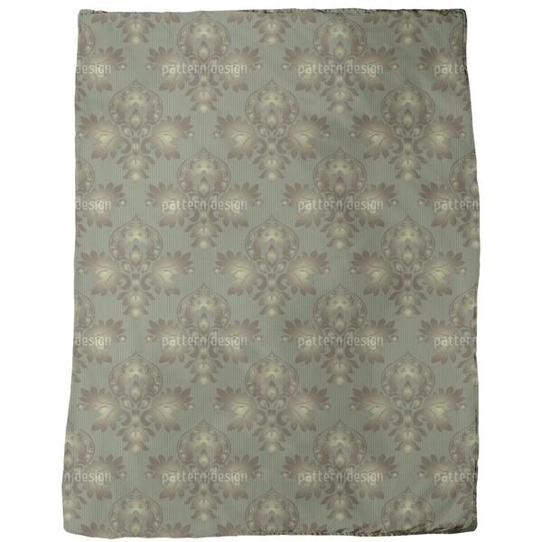 Modern Brocade Design Fleece Blanket