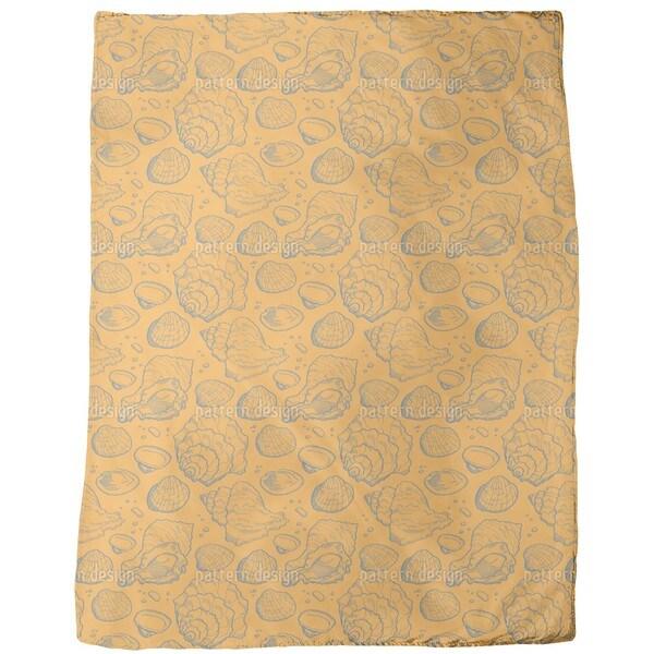 Seashell Gold Fleece Blanket