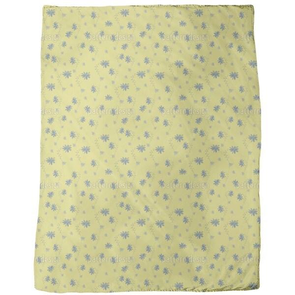 Little Flower Blues Fleece Blanket