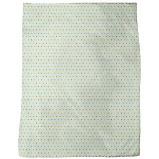 Polka Dots Pale Blue Fleece Blanket