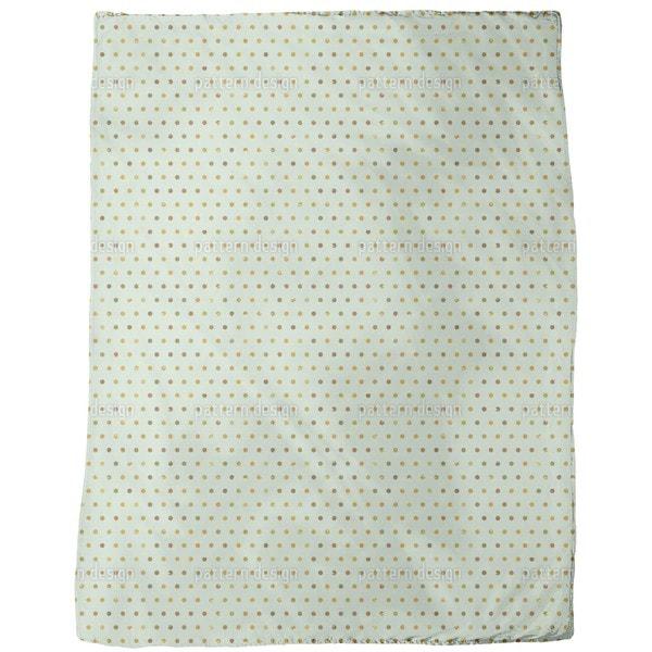 Polka Dots Pale Blue Fleece Blanket
