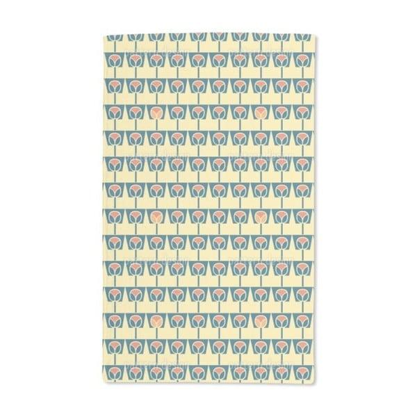 Flowerpots Yellow Hand Towel (Set of 2)