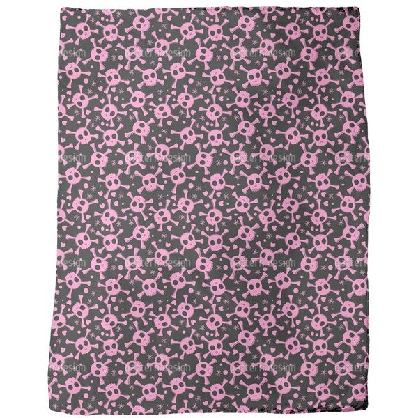 Pirate Lily is in Love Fleece Blanket