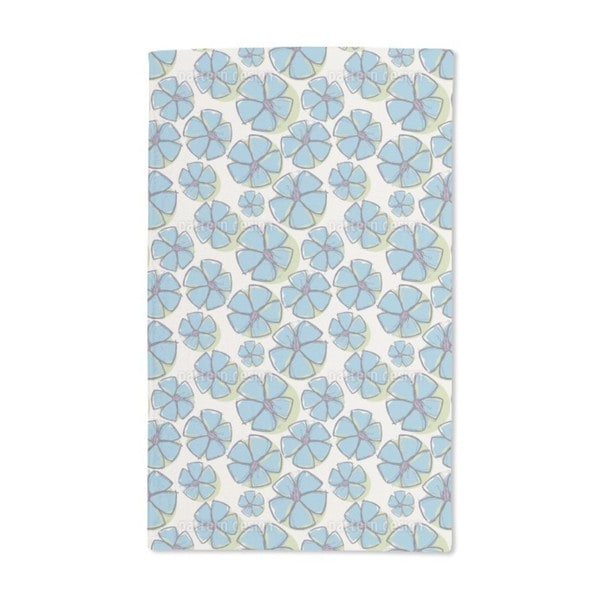 Emily Draws Forget Me Nots Hand Towel (Set of 2)