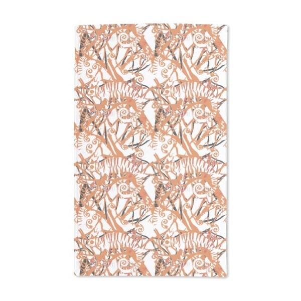 Chameleon Orange Hand Towel (Set of 2)