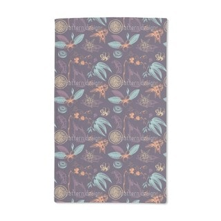 Exotic Plants Hand Towel (Set of 2)
