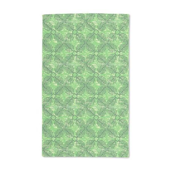 Leaf Stamp Hand Towel (Set of 2)