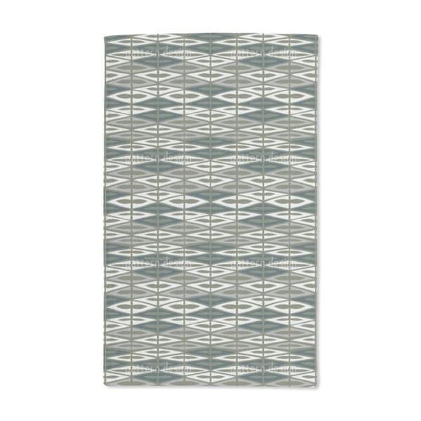 Checkered Garden Green Hand Towel (Set of 2)