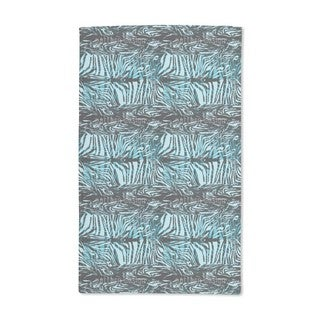 Zebra Fur Blue Hand Towel (Set of 2)