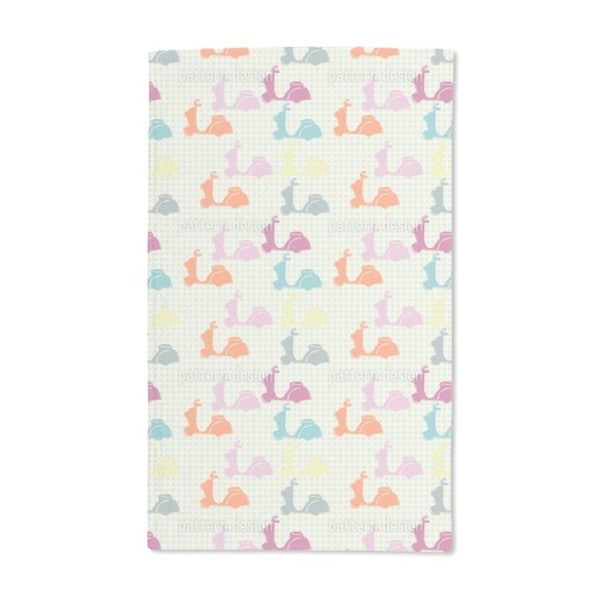 Scooter With Dots Hand Towel (Set of 2)