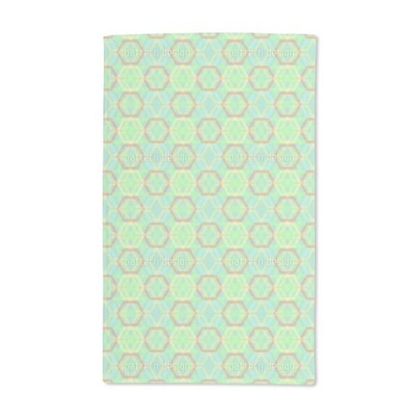 Hexagonia Verde Hand Towel (Set of 2)