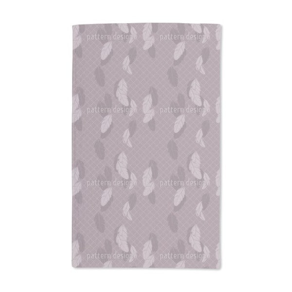 Gentle Feathers Brown Hand Towel (Set of 2)