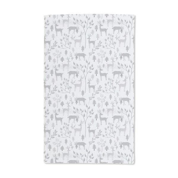 Deer in Winter Forest Hand Towel (Set of 2)