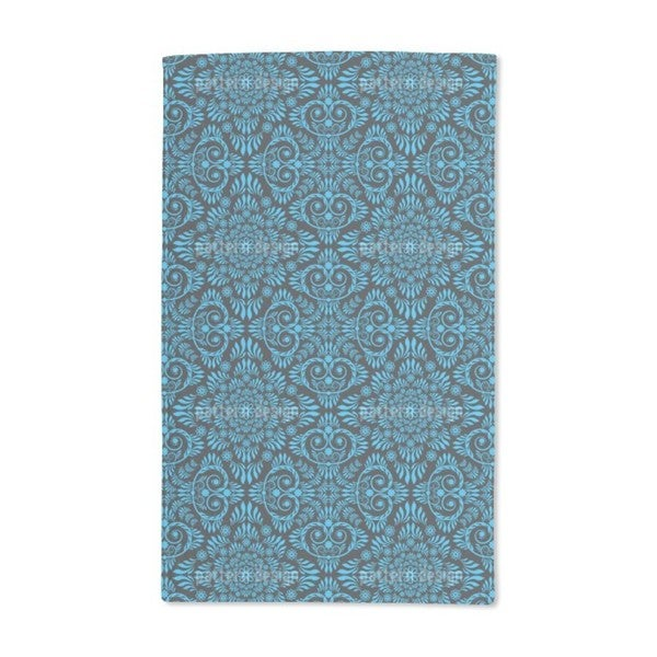 Blue Bloom Hand Towel (Set of 2)