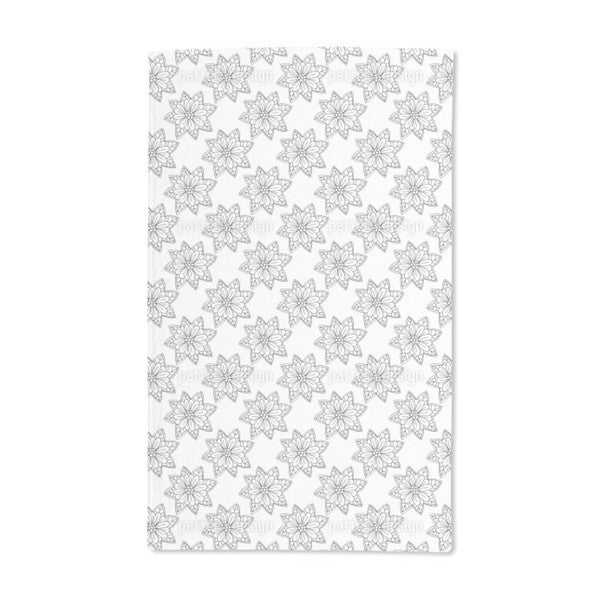 Flowers From Above Hand Towel (Set of 2)