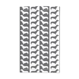 Dachshund Black and White Hand Towel (Set of 2)