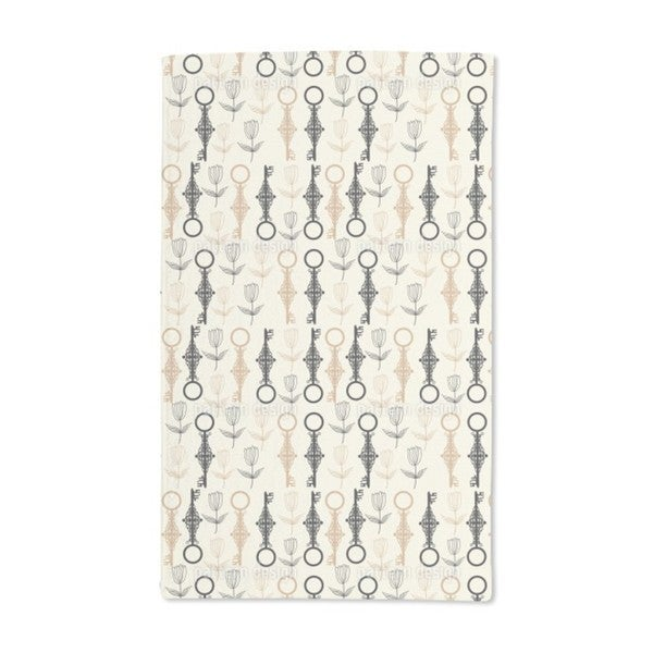 Key Flowers Hand Towel (Set of 2)