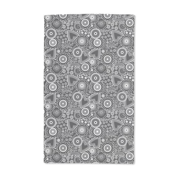 Flower Heart and Circle Hand Towel (Set of 2)