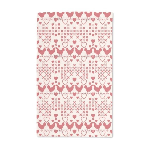 Chicken Have Big Hearts Hand Towel (Set of 2)