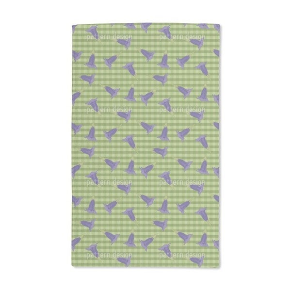 Gentian on Checks Hand Towel (Set of 2)
