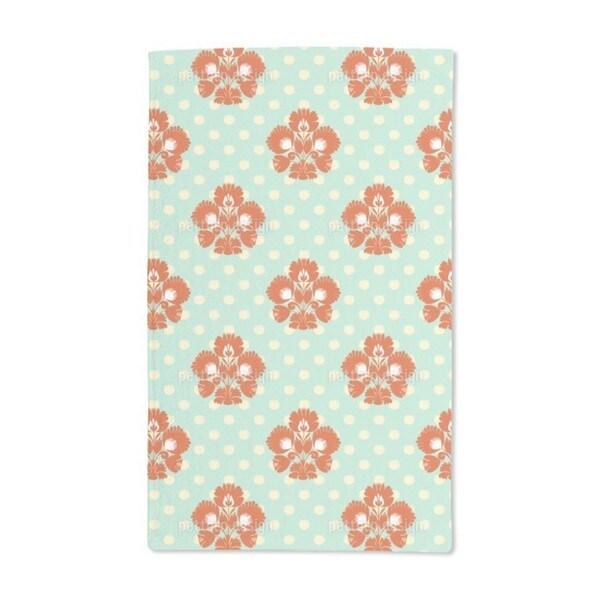 Polka Dot Floral Hand Towel (Set of 2)