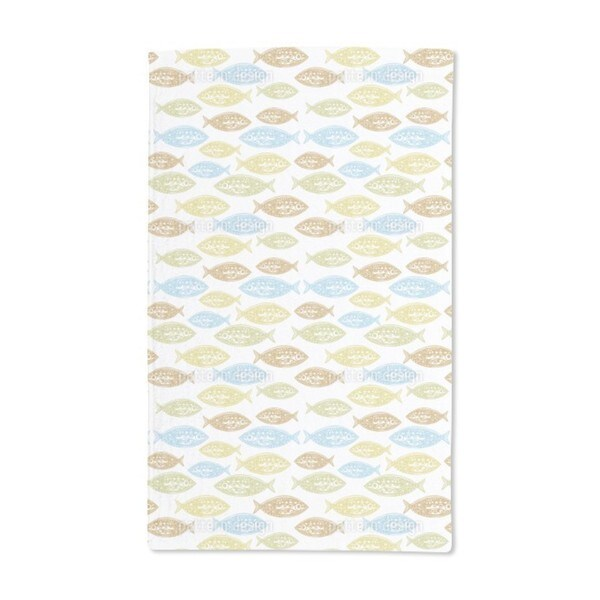 Pacific Fish Hand Towel (Set of 2)