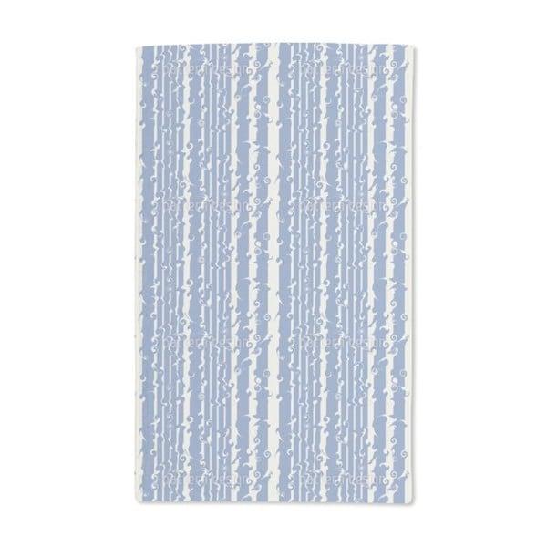 Wavy Games in Blue Hand Towel (Set of 2)
