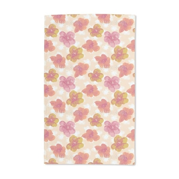 Brisk Flowers Hand Towel (Set of 2)