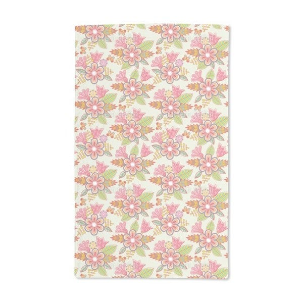 Summer Flowers Hand Towel (Set of 2)