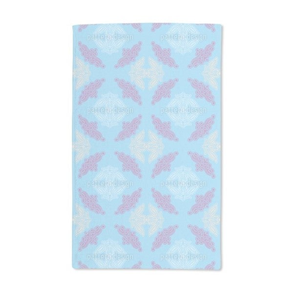 Lacy Ida Blue Hand Towel (Set of 2)