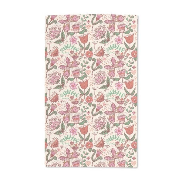 Folklore in the Love Garden Hand Towel (Set of 2)