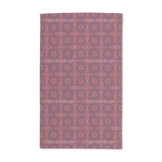 Renaissance Crystal Red Hand Towel (Set of 2)