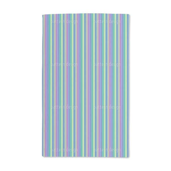 Colorful and Blue Stripes Hand Towel (Set of 2)