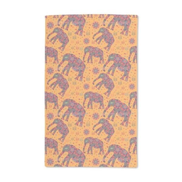 Indian Elephant Mountain Hike Hand Towel (Set of 2)