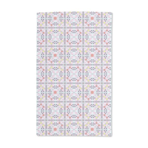 Mosaic With Flowers Hand Towel (Set of 2)