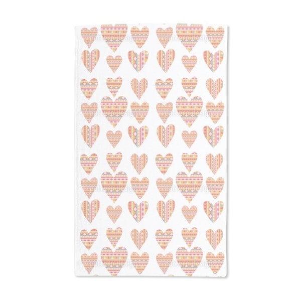 Tribal Hearts Hand Towel (Set of 2)