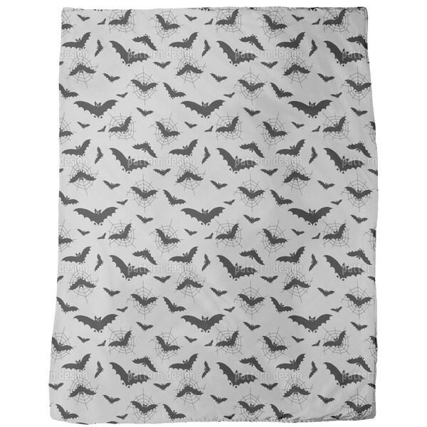 Bats in the Web Fleece Blanket