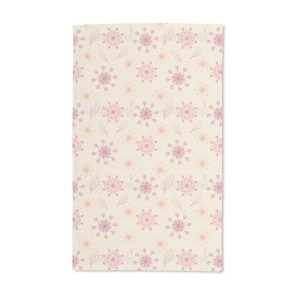 Dancing Flakes Apricot Hand Towel (Set of 2)