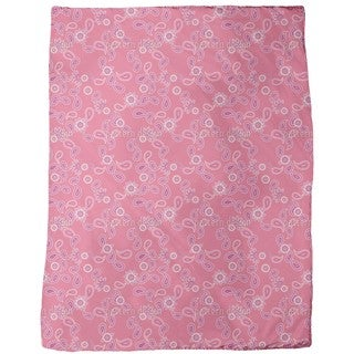 Paisley in Pink Fleece Blanket