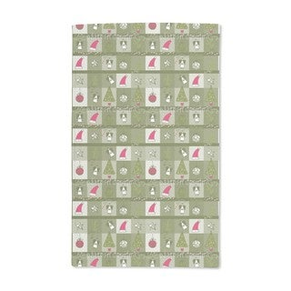 Christmas Dream Green Hand Towel (Set of 2)