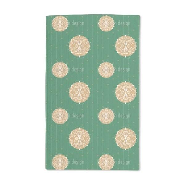 Christmas Ornaments Green Hand Towel (Set of 2)
