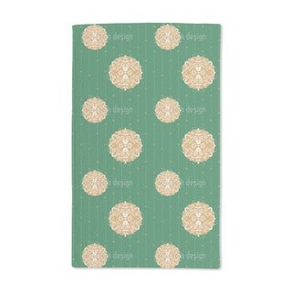 Christmas Ornaments Green Hand Towel (Set of 2)