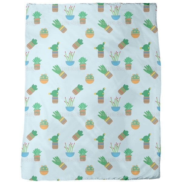 Succulent Plants Fleece Blanket